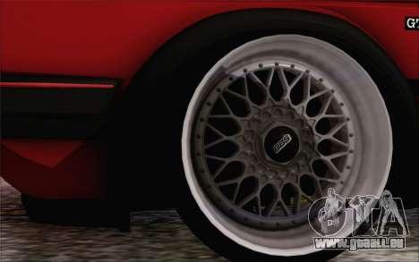 Volkswagen Golf Mk 2 pour GTA San Andreas sur la vue arrière gauche
