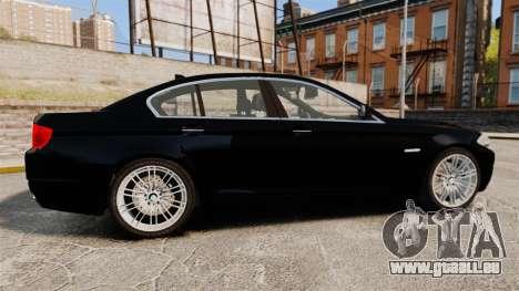BMW M5 F10 2012 Unmarked Police [ELS] pour GTA 4 est une gauche
