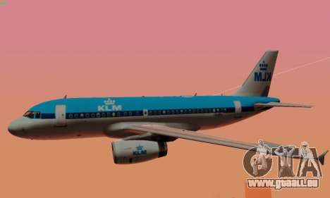Airbus A319 KLM für GTA San Andreas Räder