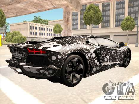 Lamborghini Aventador LP700-4 2013 pour GTA San Andreas vue de droite