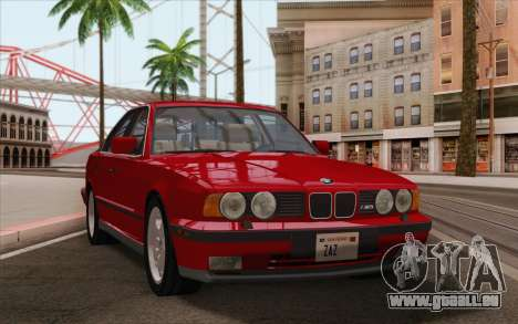 BMW M5 E34 1991 NA-spec für GTA San Andreas zurück linke Ansicht