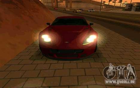 GTA V Dewbauchee Rapid GT Coupe pour GTA San Andreas vue arrière