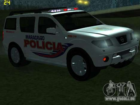 Nissan Pathfinder Polimaracaibo pour GTA San Andreas vue de dessous