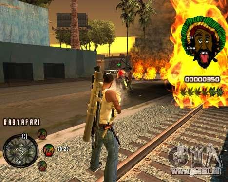 C-HUD Rastafari pour GTA San Andreas