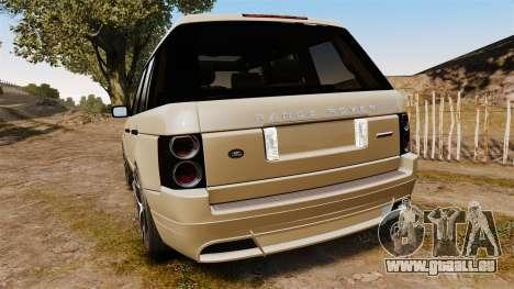 Range Rover Supercharger 2008 für GTA 4 hinten links Ansicht