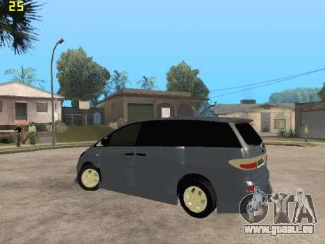 Toyota Estima Altemiss 2wd pour GTA San Andreas vue de côté