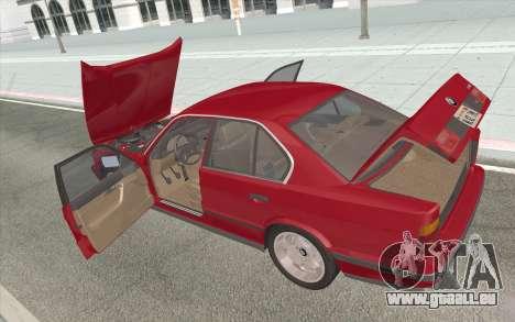 BMW M5 E34 1991 NA-spec für GTA San Andreas Seitenansicht