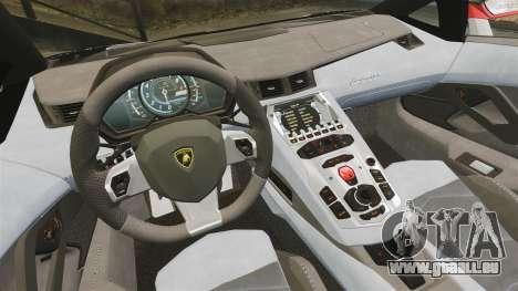 Lamborghini Aventador LP700-4 2012 Adidas Carbon pour GTA 4 Vue arrière