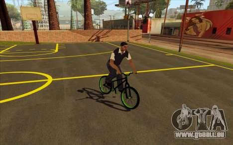 Street MTB bike pour GTA San Andreas sur la vue arrière gauche