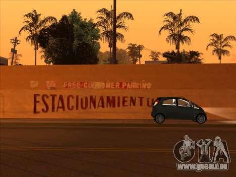 Mitsubishi i MiEV für GTA San Andreas zurück linke Ansicht