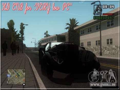 HD ENB for very low PC pour GTA San Andreas quatrième écran