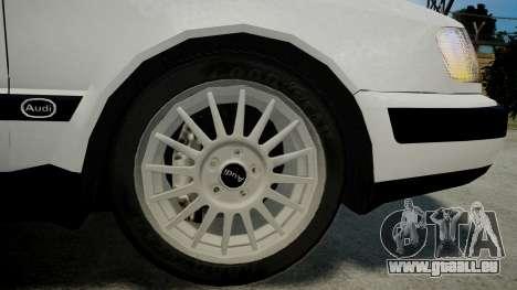 Audi 100 C4 1993 pour GTA 4 Vue arrière de la gauche