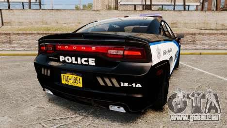 Dodge Charger 2013 Liberty City Police [ELS] pour GTA 4 Vue arrière de la gauche