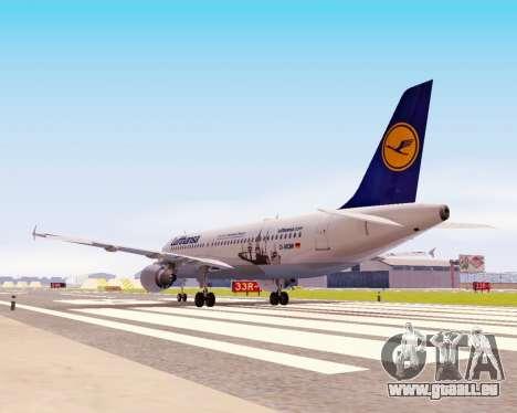 Airbus A320-200 Lufthansa pour GTA San Andreas vue intérieure