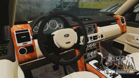 Range Rover Supercharger 2008 für GTA 4 Innenansicht