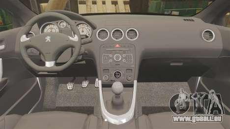Peugeot 308 GTi 2011 Guardia Civil pour GTA 4 est un côté