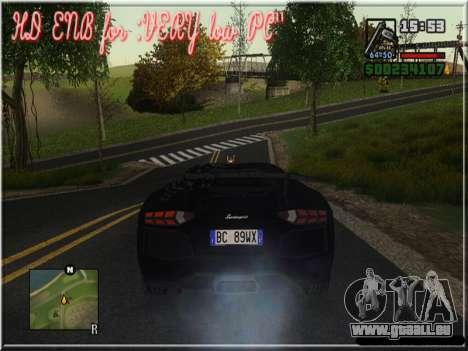 HD ENB for very low PC pour GTA San Andreas sixième écran