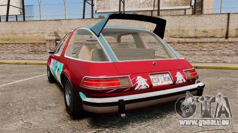 AMC Pacer 1977 v2.1 Mitchie M pour GTA 4 Vue arrière de la gauche