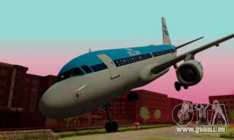 Airbus A319 KLM für GTA San Andreas Seitenansicht