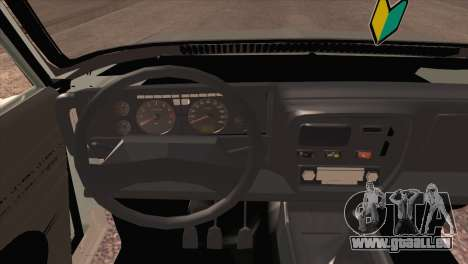 Peykan 80 Blackroof für GTA San Andreas Rückansicht