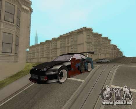 Nissan 150sx Evil Empire pour GTA San Andreas sur la vue arrière gauche