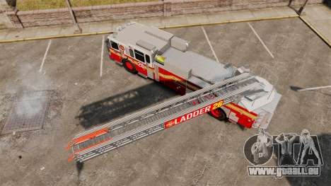 Ferrara 100 Aerial Ladder FDNY [working ladder] für GTA 4 rechte Ansicht
