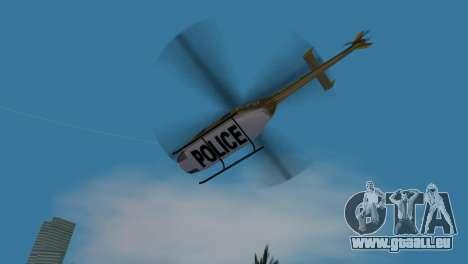Polizei-Hubschrauber von GTA VCS für GTA Vice City Innenansicht