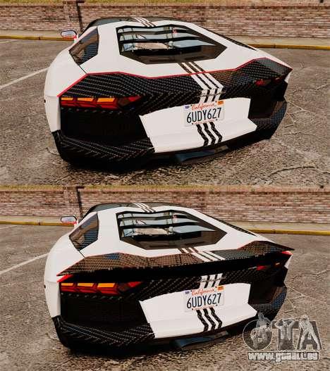 Lamborghini Aventador LP700-4 2012 Adidas Carbon pour GTA 4 est un côté