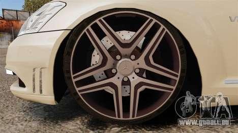 Mercedes-Benz S65 (W221) AMG pour GTA 4 Vue arrière