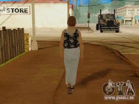 Une femme âgée v.2 pour GTA San Andreas huitième écran