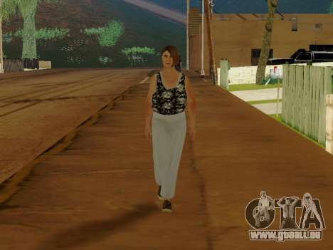 Une femme âgée v.2 pour GTA San Andreas deuxième écran
