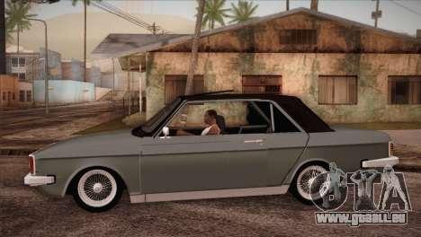 Peykan 80 Blackroof pour GTA San Andreas laissé vue