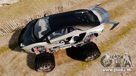 Lamborghini Aventador LP700-4 [Monster truck] für GTA 4 rechte Ansicht