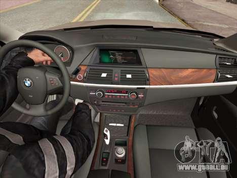 BMW X5M E70 2010 für GTA San Andreas Innen