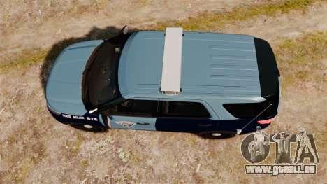 Ford Explorer 2013 MSP [ELS] pour GTA 4 est un droit