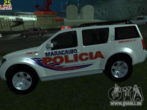 Nissan Pathfinder Polimaracaibo pour GTA San Andreas laissé vue