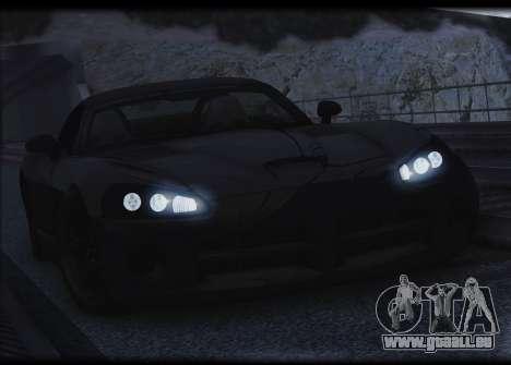 Dodge Viper SRT-10 pour GTA San Andreas vue de dessus