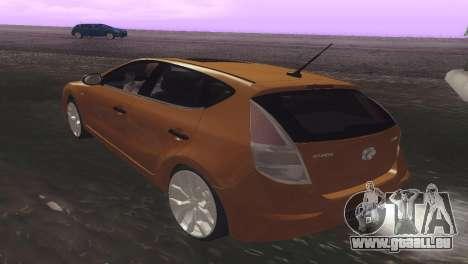 Hyundai i30 pour GTA San Andreas vue de droite