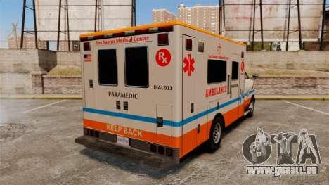 Brute LSMC Paramedic für GTA 4 hinten links Ansicht