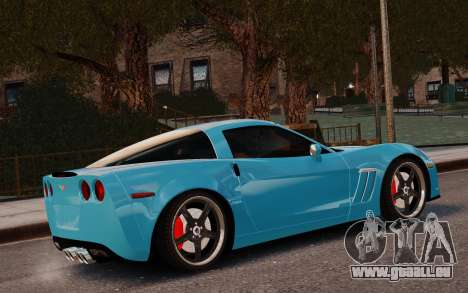 Chevrolet Corvette Grand Sport 2010 pour GTA 4 est une gauche