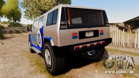 Patriot Police v2.0 pour GTA 4 Vue arrière de la gauche