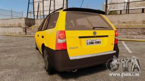 Volkswagen Parati G4 Track and Field 2013 für GTA 4 hinten links Ansicht