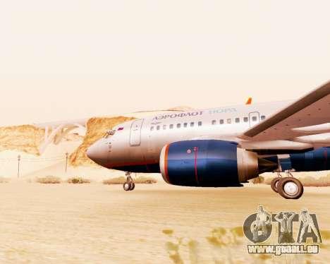 Boeing 737-500, Aeroflot Nord pour GTA San Andreas sur la vue arrière gauche