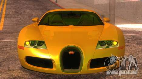 Bugatti Veyron 2009 pour GTA San Andreas vue arrière