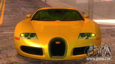 Bugatti Veyron 2009 für GTA San Andreas Rückansicht