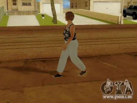 Une femme âgée v.2 pour GTA San Andreas cinquième écran