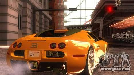 Bugatti Veyron 2009 pour GTA San Andreas laissé vue