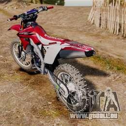Kawasaki KX250F (Honda CRF450) für GTA 4 rechte Ansicht
