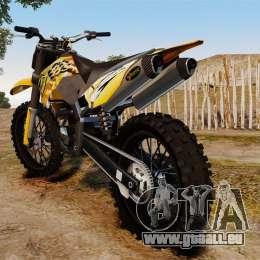 KTM 450 EXC Monster Energy für GTA 4 rechte Ansicht