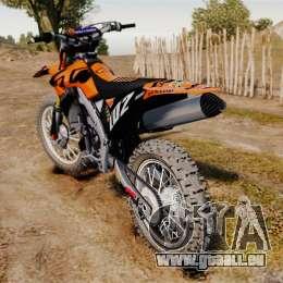 Kawasaki KX250F (KTM) pour GTA 4 est un droit
